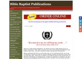 Biblebaptistpublications.org thumbnail