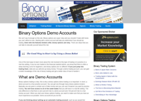 Binary option trial account
