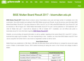 Bisemultan.pkresult.com thumbnail