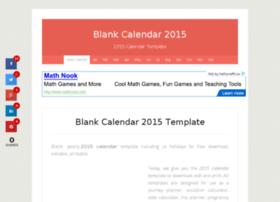 Blankcalendar2015.net thumbnail