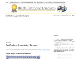 Blankcertificates.net thumbnail