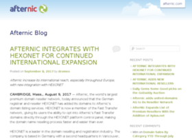 Blog.afternic.com thumbnail