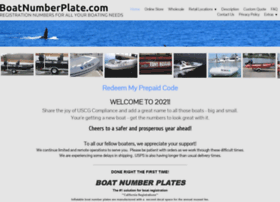 Boatnumberplate.com thumbnail