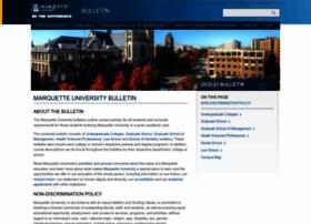 Bulletin.marquette.edu thumbnail