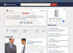 Businessdictionary.com thumbnail