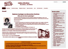 Cahiersdarchives.fr thumbnail