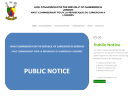Cameroonhighcommission.co.uk thumbnail