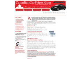Canadiancarprices.com thumbnail