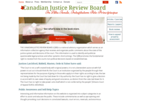 Canadianjusticereviewboard.ca thumbnail