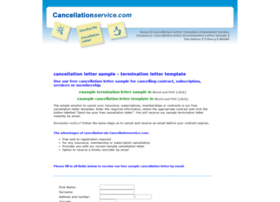 Cancellationservice.com thumbnail