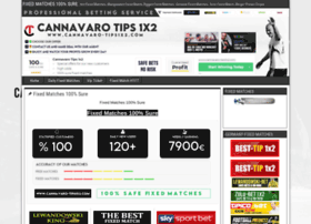 Cannavaro tips 1x2 betting tour de france stage 9 betting preview nfl