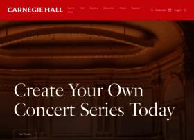 Carnegiehall.org thumbnail
