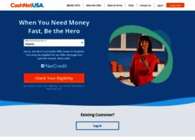 cashnetusa.com at WI. CashNetUSA Online Loans - Official Site | Money's on the way®