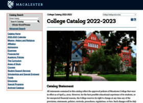 Catalog.macalester.edu thumbnail