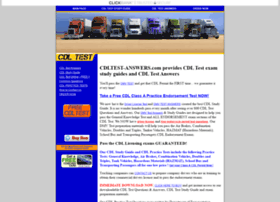 cdltest-answers.com at WI. CDL TEST ANSWERS - Driver License Test questions and answers | HAZMAT