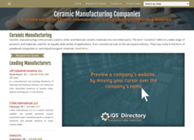 Ceramicmanufacturing.net thumbnail