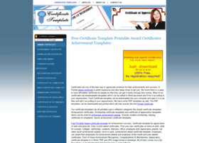 Certificatetemplate.net thumbnail
