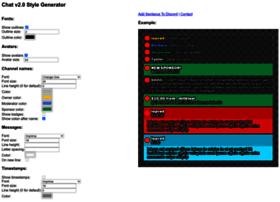 Generator chat v2 style Chat v2.0