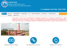 Chennaimetrowater.com thumbnail