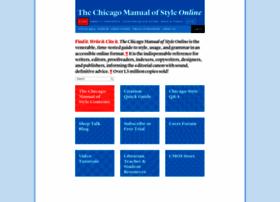 Chicagomanualofstyle.org thumbnail