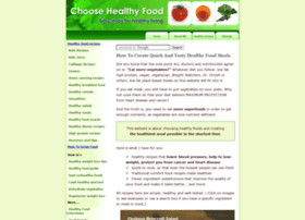 Choose-healthy-food.com thumbnail