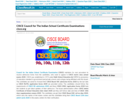 Cisce.classresult.in thumbnail