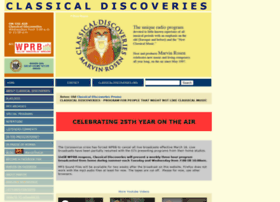 Classicaldiscoveries.org thumbnail