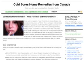 Coldsoreshomeremedies.ca thumbnail