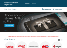 Coles-corporateservices.cashstar.com thumbnail