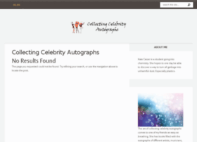 Collecting-celebrity-autographs.com thumbnail