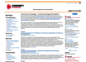 Community-of-knowledge.de thumbnail