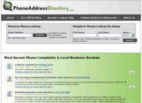 Comwww.phoneaddressdirectory.com thumbnail
