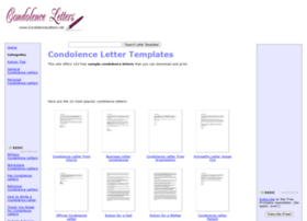 Condolenceletters.net thumbnail