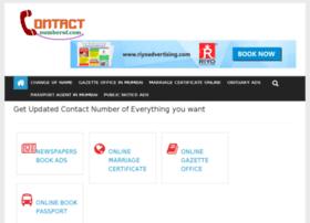 Contactnumberof.com thumbnail