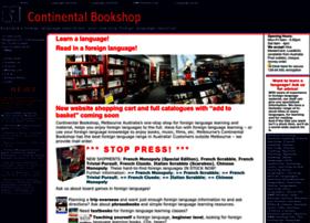 Continentalbookshop.com thumbnail
