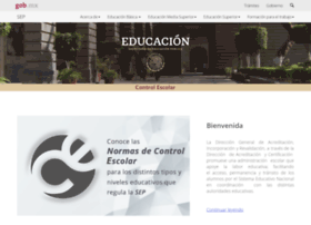 Controlescolar.sep.gob.mx thumbnail