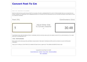 Convertfeettocm.co.uk thumbnail