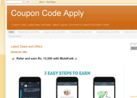 Couponcodeapply.blogspot.in thumbnail