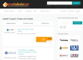 Couponcodeslist.net thumbnail