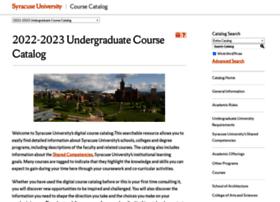 Coursecatalog.syr.edu thumbnail
