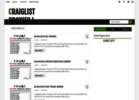 Craiglistproxies.blogspot.in thumbnail