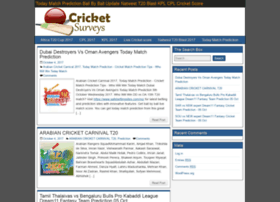 Cricketsurveys.com thumbnail