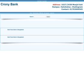 Cronybank.com thumbnail