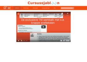 Cursussjabloon.be thumbnail