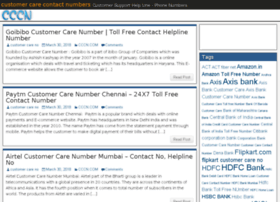 Customer-care-contact-numbers.com thumbnail