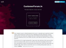 Customerforum.in thumbnail