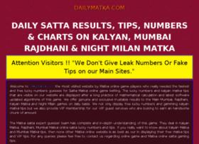 dailymatka.com at WI. Kalyan matka, Satta Matka Result ...