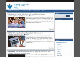 Datesheet-nic.info thumbnail