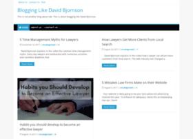 Davidbjornson.net thumbnail