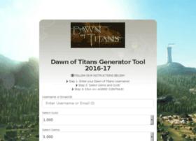 Dawnoftitans.generater.website thumbnail